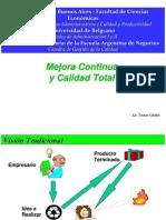 Present. Universidad -Mejora Continua y Calidad-T.chahin