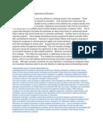 Understanding Issues in Organizational Behavior