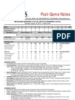 08.10.13 Post-Game Notes