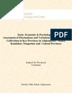 Socio-Economic Psychological Assessment Opium Poppy Cultivation 2006