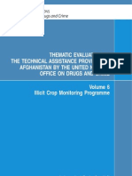 UN- Thematic Analysis of Afghanistan Illicit Crop Monitoring Programme