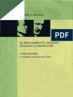 115546135 Eusebi Colomer El Pensamiento Aleman de Kant a Heidegger I