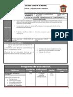 Plan y Programa de Evaluacion 2o 13 14