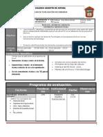 Plan y Programa de Evaluacion 3o 13 14