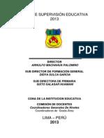 Plan de Supervision 2013 i.e. 7084
