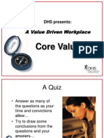 A Value Driven Workplace CoreValues