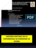 Historia Natural Del Sindrome de Down