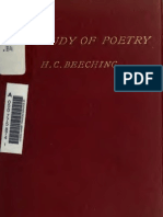 Two Lectures Introductory to the Study of Poetry (1901)
