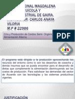 CURSO CRÍA Y PRODUCCIÓN DE CERDOS SEMI- ORGANICOS CON ALIMENTACIÓN ALTERNA