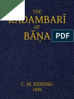 The Kadambari of Bana Bana