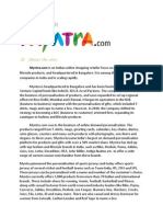 A Review on Myntra.com