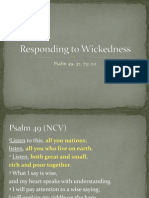 The Right Response to Wickedness