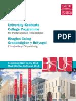 University Graduate College Programme