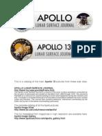 APOLLO 13 Photo Catalog