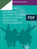 Dydaktyka kultury polskiej w kształceniu językowym - ebook