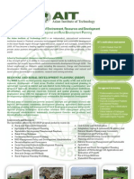 Brochure of the Regional and Rural Development Planning Field of Study at AIT