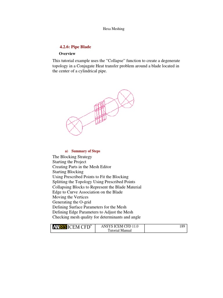 Pipe Blade Mesh | Vertex (Geometry) | Computational Fluid