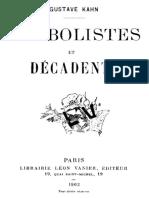 Symbolistes et Décadents