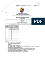 Mid Year Exam Physics Paper 2 Form 4 2009