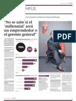 """Er-Ronald - Estudio sobre los """"millennials"""" peruanos en diario Gestión"""