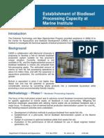 0316-07-142 -180 Estab Biodiesel Processing Capacity