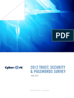 2012 Cyber Ark Trust Security Password Report
