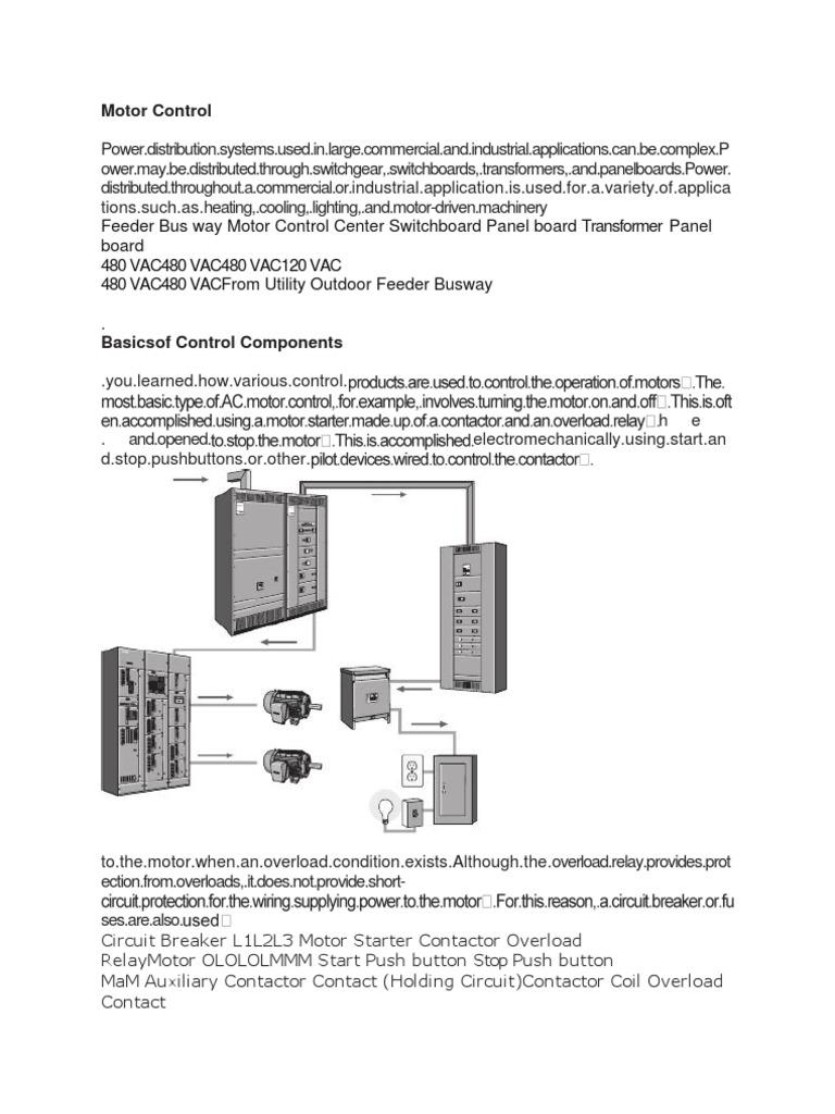 Motor Control 1 Electric Power Force Ac Wiring Diagram 480 Vac