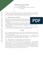 [Arxiv]Negative Group Velocity(Kirk T. McDonald)(2000)(CITED 33)