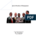 Principles & Practices of Management (SSBM)-Course Material