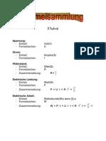 Formelsammlung E Technik