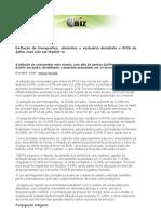 Deflação de transportes, alimentos e vestuário desidrata o IPCA de julho, mas não vai repetir-se