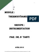 Polycopié Thermodynamique IAP 2012  (Réparé)