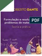 Formulacao e Resolucao de Problemas de m - Dante, Luiz Roberto