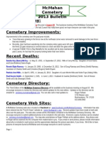 McMahan Cemetery -- 2013 Bulletin