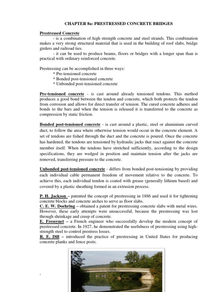 CHAPTER 8 Prestressed Concrete Bridges | Prestressed Concrete