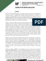 Analiza ANOSR-Responsabilitate Pentru Educatie