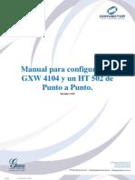 GXW4104 HT502 Punto Punto