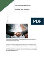 Pasos Para Constituir Una Empresa en El Peru