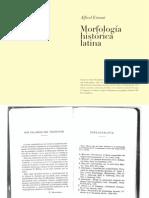 Morfología histórica latina, de Alfred Ernout