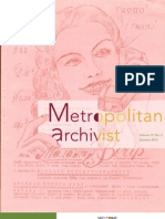 Metropolitan Archivist, Vol. 19 No. 2 (Summer 2013)