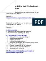 Código de Ética del Profesional de Sistemas