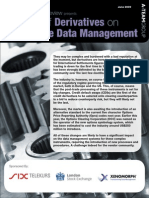 Reference Data Review Special Report - Impact of Derivatives on Reference Data Management