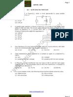 GATE Electrical Engineering Sample Paper 2004