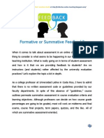 Formative or Summative Feedback