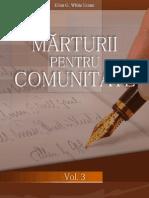 Marturii pentru comunitate  Volumul 3