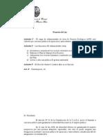 Proyecto de Ley. Disposiciones Para La Designacion Del Administrador Del Area Reserva Ecologica