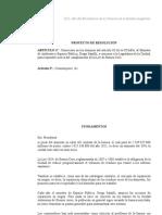 Proyecto de Resolucion. Citacion Ministro de Ambiente y Espacio Publico