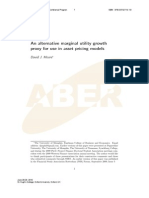 An alternative marginal utility growth proxy for use in asset pricing models