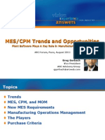 Presentation on MES-Trends and Opportunities