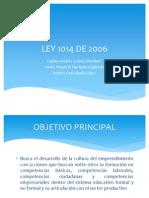 LEY 1014 DE 2006.ppsx